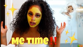 TAKING MY MONTH OLD BRAIDS OUT & GETTING A FACIAL(WASH & BLOW)