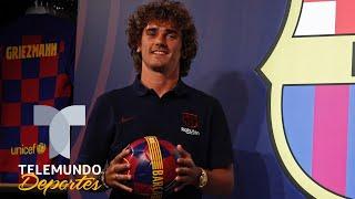 La reacción de Antoine Griezmann cuando se cerró su fichaje al Barcelona | Telemundo Deportes