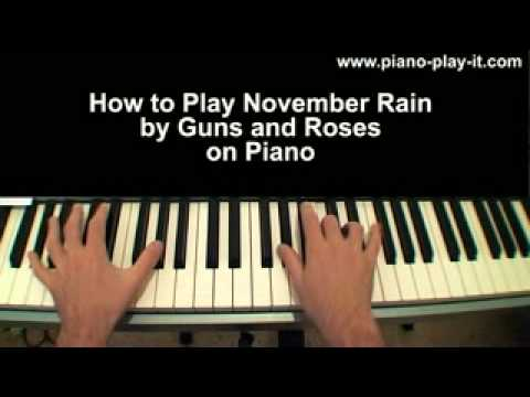November Rain Piano Tutorial Guns & Roses (Guns n Roses)