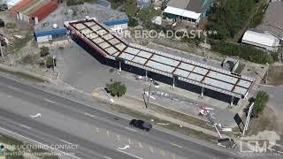 10 12 18 Panama City Beach, FL Damage At Popular Spots Club Lavela Pinapple Willies ETC Heli