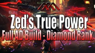 Zed's True Power - TRYHARD MODE - Full AD Assassin Build - League of Legends