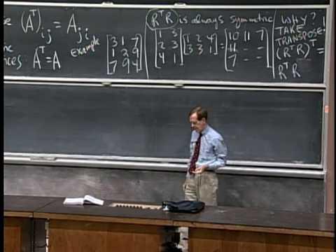 Baixar Lec 5 | MIT 18.06 Linear Algebra, Spring 2005