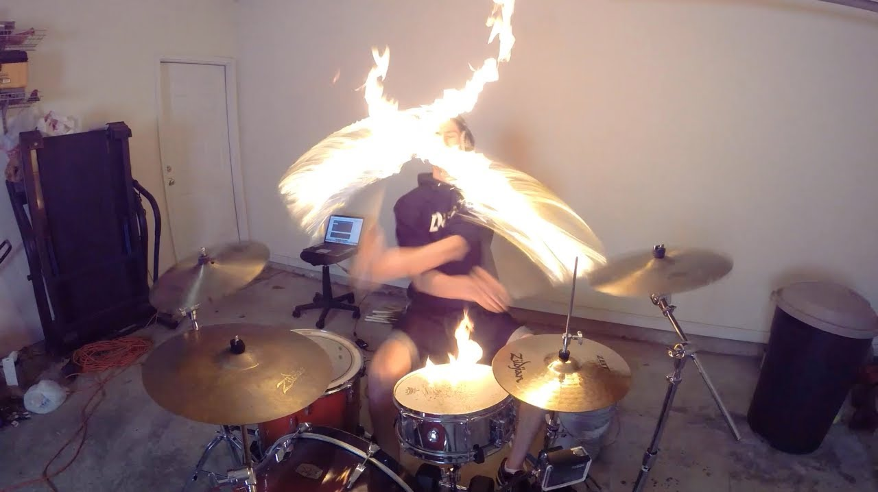 burn drum cover with fire sticks ellie goulding drumming with fire brit awards 2014 song. Black Bedroom Furniture Sets. Home Design Ideas