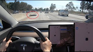 Lane Changes and Road Debris - Tesla Nav on Autopilot w/o confirmation
