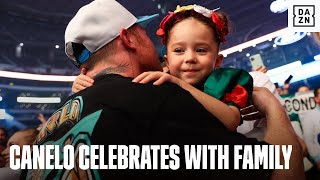 Canelo Celebrates With His Family After Defeating Billy Joe Saunders