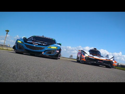 Championship-winning Acura-powered drivers Ricky Taylor and Trent Hindman are no strangers to piloting high-tech, high-performance Acura racing machines, but neither had driven the other's class of IMSA race car. With a shared desire to try different machinery, both made the most of a unique opportunity to experience the other's race car in a swap of the Acura ARX-05 and Acura NSX GT3 Evo.