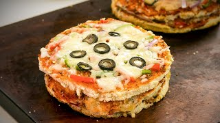 Pizza Burger Recipe By SooperChef - Ramzan Special Recipes