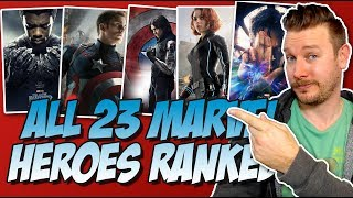 All 23 MCU Heroes Ranked From Worst to Best (w/ Black Panther from the Marvel Cinematic Universe)