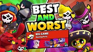 BEST & WORST BIG GAME BRAWLERS IN BRAWL STARS! HOW TO GET YOUR BEST TIME!