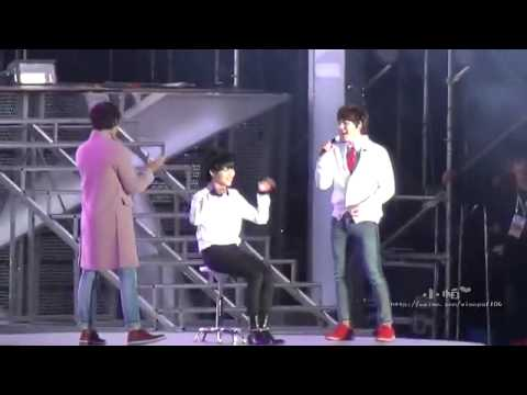 [FANCAM] 131019 Just the way you are - Kyuhyun, Changmin & Taemin @ SMTown Beijing