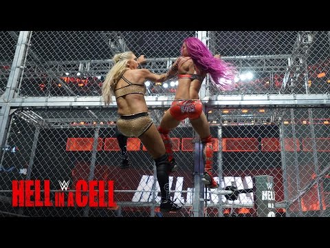 Sasha Banks vs Charlotte - Hell in a Cell match