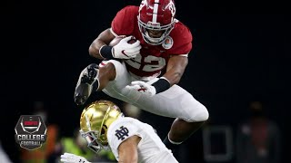 INCREDIBLE Najee Harris hurdle highlights Alabama TD drive vs. Notre Dame | College Football Playoff