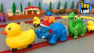 Duck Elephen and Dinosaur Train Toys Kids Video Funny Track Set for Kids TOYLAND