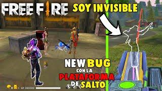 NUEVO *BUG* SOY INVISIBLE CON LAS PLATAFORMAS DE SALTOS EN FREE FIRE (BUG CORREGIDO EN FREE FIRE)