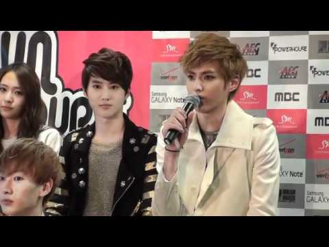 [120521] Kris Speaking English @ SMTOWN LA Press Conference