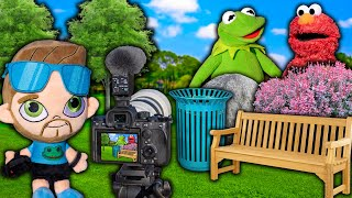 Kermit the Frog and Elmo Play Hide and Seek with NEW Camera! (Very Expensive)