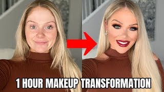 1 HOUR FALL MAKEUP TRANSFORMATION | GET READY WITH ME