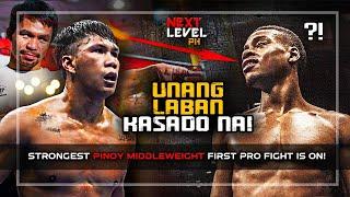SOBRANG LAKI NA NITO! LALABAN NA!  [ FILIPINO MIDDLEWEIGHT MARCIAL FIRST PRO FIGHT IS ON! ]