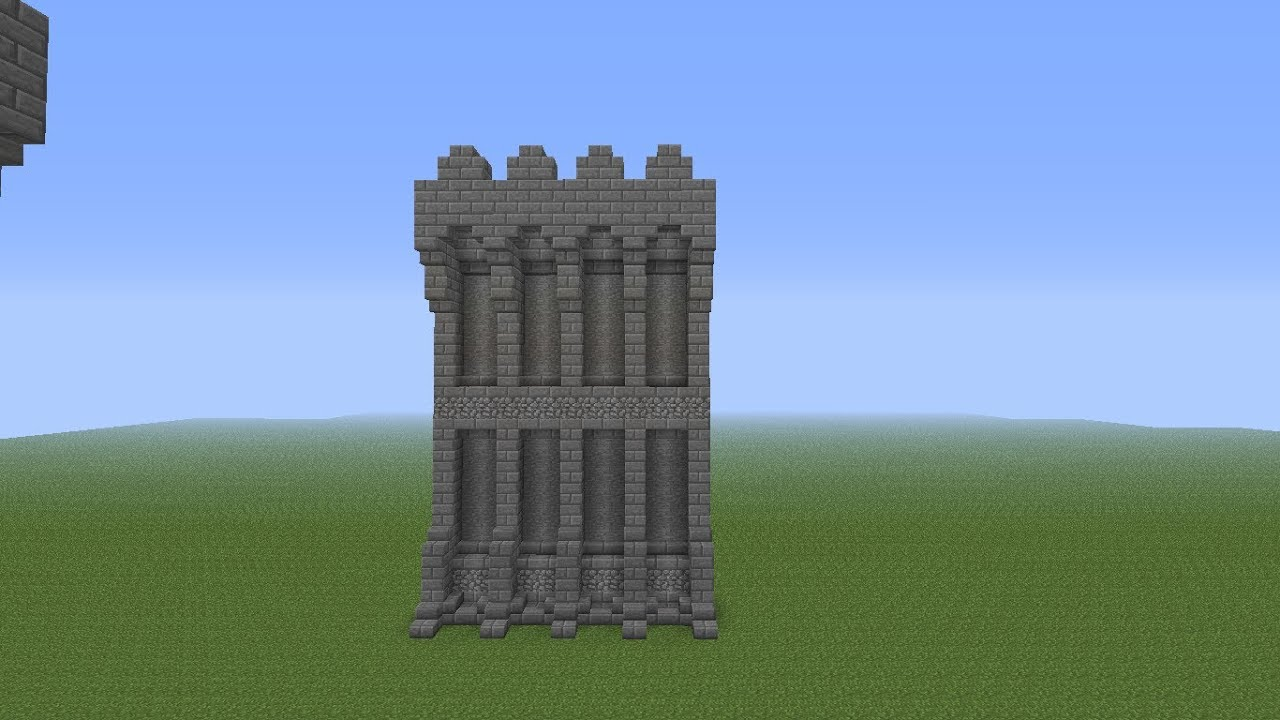 Minecraft Castle Wall Tutorial - YouTube