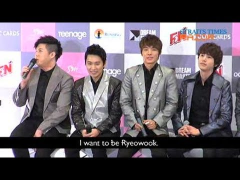 Shindong wants Ryeowook's abs (Super Junior Super Show 4 Pt 1)