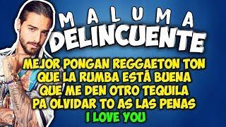 Maluma - Delincuente (Letra)