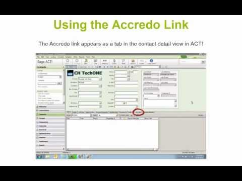 Xact Link for ACT! and Accredo