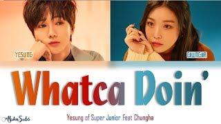 YESUNG [예성] Feat CHUNGHA [청하] - Whatcha Doin' [지금 어디야?] Color Coded Lyrics/가사 [Han|Rom|Eng]