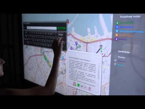 Demonstration of the system Interactive Map