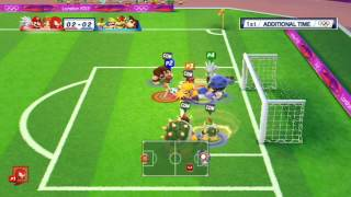 Repeat youtube video Mario and Sonic at the London 2012 Olympic Games: Part 10 - Football