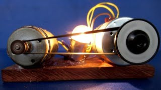 New Science Self Running motor Free energy generator with light bulb - Awesome idea 2018