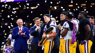 LSU Football 2020 National Championship Trophy Ceremony