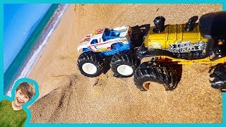 Axel Show Monster Truck Stuck at the Beach!