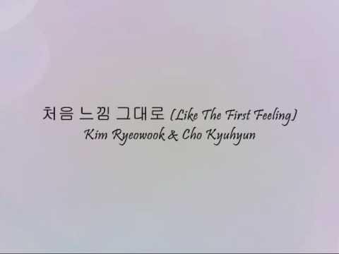 Kim Ryeowook & Cho Kyuhyun - 처음 느낌 그대로 (Like The First Feeling) [Han & Eng]