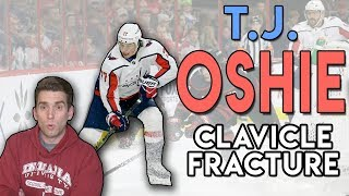Doctor Explains TJ Oshie DIRTY HIT and Clavicle FRACTURE!