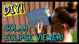 HOW TO MAKE A SOLAR ECLIPSE VIEWER - 2 MINUTES!!