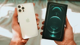 """iPhone 12 Pro """"WHITE"""" UNBOXING & First Look!"""