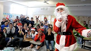 VISITING MY OLD SCHOOL AS SANTA CLAUS! (SURPRISING FANS IN CLASS) | FaZe Rug