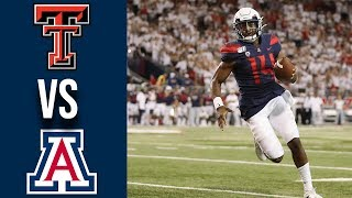 Week 3 2019 Texas Tech vs Arizona Full Game Highlights 9/14/2019