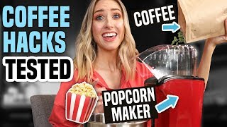 Testing HACKS vs HIGH-END... COFFEE EDITION !!