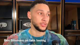 Ben Simmons on Sixers fans booing