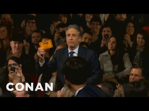 Jon Stewart & Stephen Colbert Crash Conan NYC