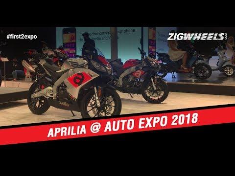 Aprilia SR125, SR150, RS 150 And Tuono 150 At Auto Expo 2018
