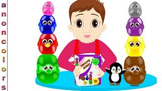 Educational Video For Children | Learn Colors With Stacking Birds | Colors Learning With Kids Toys