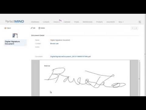 PerfectMIND 3 View a Digitally Signed Document