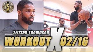 Cleveland Cavs Tristan Thompson NBA workout