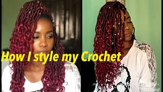 How I Style my Crochet Braids