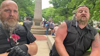 Bill Null Interviewed at West Michigan Civil War Statue Protest