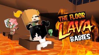 "BABY MONSTERS: ""FLOOR IS LAVA!"" - MONSTER SCHOOL - CUTE MINECRAFT ANIMATION"