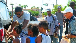 Giving Out Over $10,000 Worth Of Clothes & Cash To The Homeless!