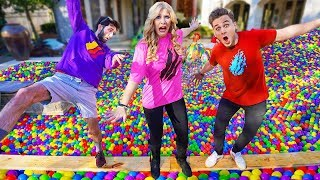 Last to fall in GIANT Ball Pit Pool wins $10,000! - Challenge